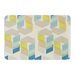 "KESS InHouse - Gukuuki ""Kobob Chevron"" Geometric Brown Memory Foam Bath Mat (17"" x 24"") - These super absorbent bath mats will add comfort and style to your bathroom. These memory foam mats will feel like you are in a spa every time you step out of the shower. Available in two sizes, 17"" x 24"" and 24"" x 36"", with a .5"" thickness and non skid backing, these will fit every style of bathroom. Add comfort like never before in front of your vanity, sink, bathtub, shower or even laundry room. Machine wash cold, gentle cycle, tumble dry low or lay flat to dry. Printed on single side."