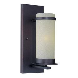 Joshua Marshal - Bronze Single Light Up Lighting Wall Sconce With Glass Shade - Finish: Dark Bronze