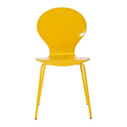 LexMod - Insect Dining Side Chair in Yellow - For true flights of fancy, no house is complete without an Insect Chair. Good for dinning room or living room, this creatively styled piece is sure to draw attention and admiration.