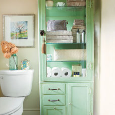 Traditional Bathroom vintage bathroom storage