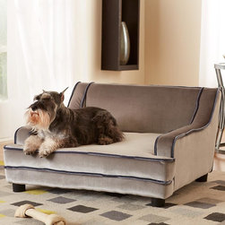 The Midcentury Modern Pet Bed - Super-pampered pooches can lounge around on a very stylish couch of their very own — what a life.