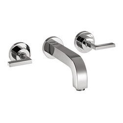 Hansgrohe - Hansgrohe Axor Citterio Wall-Mounted Widespread Faucet Set with Lever Handles - Hansgrohe 39147001 Axor Citterio Wall-Mounted Widespread Faucet Set with Lever Handles, Chrome