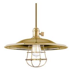 Hudson Valley Lighting - Hudson Valley Lighting 9001-AGB-MM2-WG Heirloom Aged Brass Pendant - Hudson Valley Lighting 9001-AGB-MM2-WG Heirloom Aged Brass Pendant