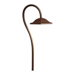 Kichler - Kichler Landscape LED Outdoor Landscape Lighting Fixture in Bronze - Shown in picture: LED Shepherd's Crook Path in Bronzed Brass