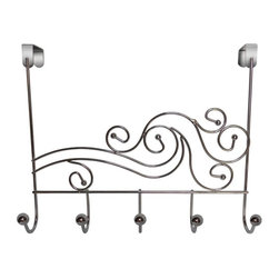 Elegant Home Fashions - Elegant Home Fashions Phoenix Five Hook Over The Door Multicolor - OTD-3839 - Shop for Closet from Hayneedle.com! There are few more stylish ways to hang your clothes robes and towels than with the Elegant Home Fashions Phoenix Five Hook Over The Door. This wave wire organizer with metal balls is an excellent way to decorate your bathroom closet bedroom or entryway door and it features a grand total of 10 storage hooks for all kinds of garments and accessories. The functional accent piece measures 18W x 5.5D x 7.5H inches and is available in your choice of finish. Some assembly is required.About Elite Home FashionsProviding affordable extravagance Elite Home Fashions has been the nation's foremost manufacturer of bathroom accent furniture and bathroom accessories in the United States. Their customers include some of America's finest and most prestigious retailers department stores and discount retail chains. Elite Home Fashions has traveled the globe to give consumers the best quality and design for their bathroom decor.