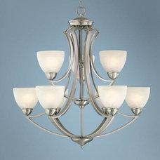 "Possini Euro Design Milbury Nine Light 30"" Wide Chandelier - #P0508 | LampsPlus."
