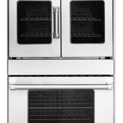 "American Range - Legacy Series AROFSE-230 30"" Double Electric Wall Oven With 4.7 Cu. Ft. Capacity - Even turbulent heat distribution is essential when baking roasting and dehydrating food The American Range Innovection convection oven technology utilizes dual convection motors and louvered side panels to enhance uniform heat distribution throughout..."