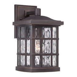 Quoizel Lighting - Quoizel SNN8408PN Stonington 1 Light Outdoor Wall Light, Palladian Bronze - Outdoor wall plld brnz