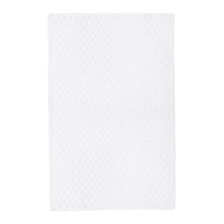 Turkish Guest Towel, New White - luxurious 100% yarn dyed Turkish cotton towels from Michele Keeler Home, individually loomed to perfection