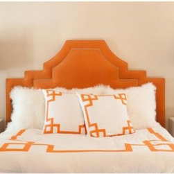 Orange Key Duvet Cover - I love the burst of color on this duvet set. The graphic lines are so modern and chic.