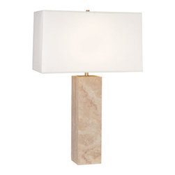 Robert Abbey - Robert Abbey Wilma Rectangular Fondine Fabric Shade Table Lamp 1517 - Rectangular Fondine Fabric Shade