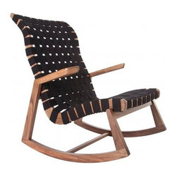 Rapson - Highback Rapson Greenbelt® Rocker with Arms | Rapson - The Highback Rapson Greenbelt® Rocker with Arms is available online exclusively from YLiving.  Design by Ralph Rapson, 1939.