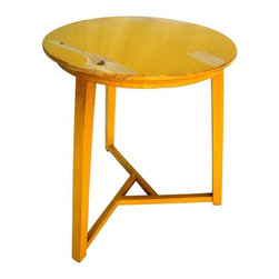 Used Yellow Retro Table - Give your space that retro look with this fun pop of color next to your sofa or side chair! This item is vintage and has some surface wear.