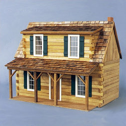 "Real Good Toys - Adirondack Cabin Dollhouse - Features: -4 Rooms. -Complete Kit includes everything you need to finish as shown (paint, glue, curtains and any landscaping or furnishings are not included). -Precision Workmanship - engineered parts pre-cut to really work. -Sturdy Construction features 1/4"" thick smooth or milled clapboard exterior walls and grooved sidewalls for easy, one-step assembly, guaranteed fit and durability . -Wooden shingles for the roof . -Step-by-step instructions with detailed drawings . -9"" Floor to ceiling height . -Log siding and trim are supplied in approximately 24"" lengths. -Logs can be purchased separately for interior decorating . -Made in Vermont, USA. -Not recommended for children under the age of 3. -Overall Dimensions: 19"" H x 24"" W x 16"" D . Recommended Supplies (not included): -Hammer. -Fine Toothed Saw. -Glues. -Utility Knife. -Masking Tape. -Sandpaper: 100 and 320 grit. -Paints. -Paint Brushes. -Ruler. -Screwdriver . -Elastic Bands."
