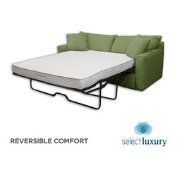 Select Luxury - Select Luxury Reversible 4-inch Twin-size Foam Sofa Bed Sleeper Mattress - This reversible foam sleep sofa bed mattress is made of 4-inch high-density foam covered in damask ticking. Both sides of this lightweight reversible foam sofa sleeper mattress can be used.