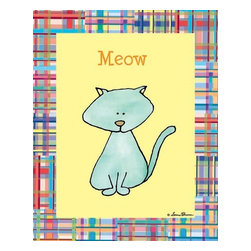 Oh How Cute Kids by Serena Bowman - Sounds Like - Cat, Ready To Hang Canvas Kid's Wall Decor, 8 X 10 - Every kid is unique and special in their own way so why shouldn't their wall decor be so as well! With our extensive selection of canvas wall art for kids, from princesses to spaceships and cowboys to travel girls, we'll help you find that perfect piece for your special one.  Or fill the entire room with our imaginative art, every canvas is part of a coordinating series, an easy way to provide a complete and unified look for any room.
