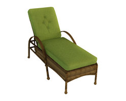 Forever Patio - Rockport Outdoor Wicker Chaise Lounge, Brown Wicker - No patio or poolside is complete without the beauty and comfort of the Rockport Single Adjustable Chaise Lounge (SKU FP-ROC-CL-CN-CP). Its UV-protected Chestnut wicker and round-weave design creates a warm, traditional look that is made to last. This lounge includes fade- and mildew-resistant Sunbrella cushions; the industry's best outdoor fabric.