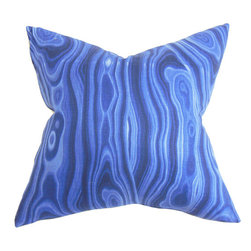 The Pillow Collection - Zoia Blue 18 x 18 Geometric Throw Pillow - - Pillows have hidden zippers for easy removal and cleaning  - Reversible pillow with same fabric on both sides  - Comes standard with a 5/95 feather blend pillow insert  - All four sides have a clean knife-edge finish  - Pillow insert is 19 x 19 to ensure a tight and generous fit  - Cover and insert made in the USA  - Spot clean and Dry cleaning recommended  - Fill Material: 5/95 down feather blend The Pillow Collection - P18-ROB-MALAKOS-ULTRAMARINE-C1