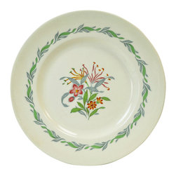 Lavish Shoestring - Consigned 6 Medium Side Plates w/ Fairfield Floral Decoration by Royal Doulton, - This is a vintage one-of-a-kind item.