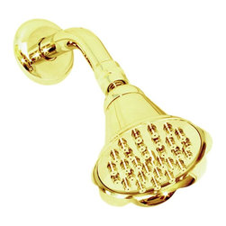 Renovators Supply - Shower Heads Gold PVD Shower Head 30 Fine Mist Jets - This shower head is premier among our luxurious shower systems. Let the  30 Fine Mist Jets massage your cares away. A  Gold PVD (Physical Vapor Deposition)  finish over solid brass ensures these shower heads will be tarnish free for many years to come. Includes high-shine gold PVD shower arm & flange.