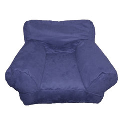 Comfort Research - BeanSack Kid's Purple/ Blue Microfiber Bean Bag Club Chair - This purple child's bean bag chair will instantly brighten up your kid's room. The double-stitched seams and long-lasting polystyrene balls ensure durability no matter how boisterous your child, while the microfiber cover provides extra comfort.