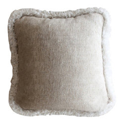 Couture Dreams - Couture Dreams Heavenly Silk Decorative Pillow Square - Couture Dreams Heavenly Silk Decorative Pillow is the perfect staple to decorating a room. Made out of woven silk with a ruffled edge this pillow is beautiful!