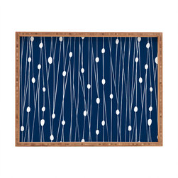 DENY Designs - Heather Dutton Navy Entangled Rectangular Tray - With DENY'S multifunctional rectangular tray collection, you can use it for decoration in just about any room of the house or go the traditional route to serve cocktails. Either way, you'll be the ever so stylish hostess with the mostess!