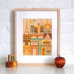 Petit Collage Paris - Print on Wood - Paris - Print on Wood