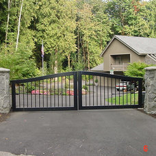 Modern Home Fencing And Gates by Metro Overhead Door, Inc.