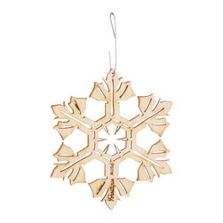 Inova Team -Rustic Wood Handmade Snowflake Ornament - Blending the delicate silhouette of a snowflake with the rustic appeal of wood, this beautiful ornament brings wintery charm to your home and holiday. Each year, a new snowflake is formed and laminated, making each piece as unique as the inspiration behind it. Made in the USA.
