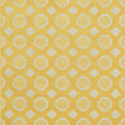 Loloi Rugs - Loloi Rugs Oasis Lemon-Ivory Contemporary Indoor / Outdoor Rug - Boldly designed and brightly colored, our Oasis Collection transforms any outdoor space into a modern patio paradise. This collection is power loomed in Egypt, ensuring precision in color and design for each and every piece. And because the 100% polypropylene yarns are specially tested to withstand UV rays and rain, it's the perfect all-weather rug.