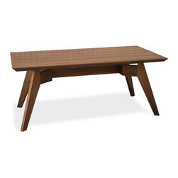 Gus Modern - Span Dining Table, Walnut - Span Dining Table by Gus Modern. Infuse your kitchen or dining space with the functional elegance of the Span Dining Table. Crafted to meticulous standard of quality and durability by the Gus Modern furniture company, this sleek dining furniture is as handsome as it is hardworking.