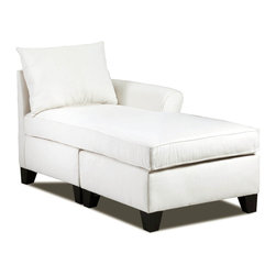 None - Belle Meade Right Arm Natural Chaise - This natural chaise will create a sense of elegance and style in any room in your home with ease. The subtle coloring allows this lovely chaise the versatility of being able to fit in with any style of decor or color scheme.