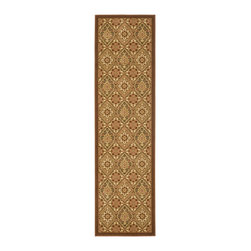 Safavieh - Safavieh Treasures Rug with Brown / Creme X-82-1152-712ERT - The Treasures collections offers the traditional rug designs with a wonderful color pallete that is very pleasing to the eyes.