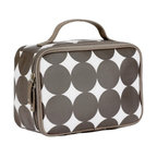 Dots Chocolate Lunch Box - If you like the tried-and-true square insulated lunchbox, there's no reason why it should be boring. A bold, contemporary print makes everything better!