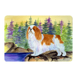 Caroline's Treasures - English Toy Spaniel Kitchen or Bath Mat 24 x 36 - Kitchen or Bath Comfort Floor Mat This mat is 24 inch by 36 inch. Comfort Mat / Carpet / Rug that is Made and Printed in the USA. A foam cushion is attached to the bottom of the mat for comfort when standing. The mat has been permanently dyed for moderate traffic. Durable and fade resistant. The back of the mat is rubber backed to keep the mat from slipping on a smooth floor. Use pressure and water from garden hose or power washer to clean the mat. Vacuuming only with the hard wood floor setting, as to not pull up the knap of the felt. Avoid soap or cleaner that produces suds when cleaning. It will be difficult to get the suds out of the mat.