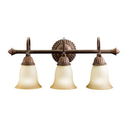 "Kichler - Kichler 5216TZG Larissa 22.5"" Wide 3-Bulb Bathroom Lighting Fixture - Product Features:"