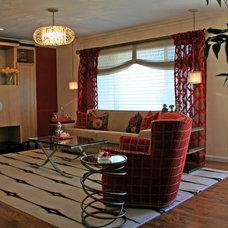 Contemporary Living Room by Mussman Design Associates
