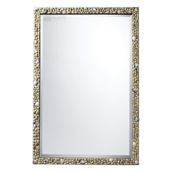 Sterling Industries - Sterling Industries Monmoth Mirror X-9102MD - From the Monmoth Collection, this Sterling Industries mirror features a classic rectangular shape with beveled edges. The frame is slender in size but features plenty of interest thanks to the layered shell pieces that are found throughout, effortlessly adding texture and making this an elegant addition to any room.