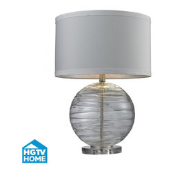Joshua Marshal - One Light Clear White Faux Silk With Silver Pony Skin Liner Shade Tabl - One Light Clear White Faux Silk With Silver Pony Skin Liner Shade Tabl