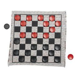Jumbo Checker Rug Game - Does your kid love to play checkers? Make the most of his or her floor with this checkerboard rug. It even comes with large vinyl playing pieces to play the game. The rug is machine washable and made of synthetic and natural fibers. It's also a great value given its affordable price point.