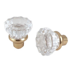 Renovators Supply - Door Knobs Clear Glass Door Knob Pair - Door Knob: This pair of elegant glass door knobs comes complete with a precision machined 1/4 in. square spindle.  The knob has a 2 in. diameter.
