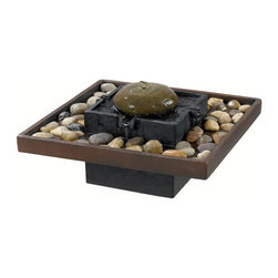 "Kenroy Home - Kenroy Home 50233 16"" Square Indoor Table Fountain with Polished River Stones fr - Traditional / Classic 16"" Square Indoor Table Fountain with Polished River Stones from the Bliss CollectionA serene addition to any tabletop, Bliss offers a tranquil rock garden feel with gentle water from a center stacked fountain.Features:"