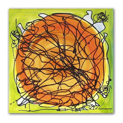"""Art Original Orange Park Painting Contemporary, Original, Painting - 24"""" x 24"""" inches / 61 x 61 cm title: orange park medium: acrylic and oil on stretched canvas. ready to hang. signed: yes. artist: regia t marinho year: 2005"""