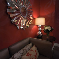 Eclectic Home Theater by Jennifer Brouwer (Jennifer Brouwer Design Inc)