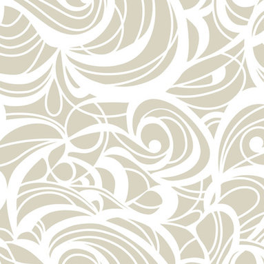 """Huddleson Linens - Champagne Swirl Linen Tablecloth, 108"""" Round - Swirling, fluid two-color print in champagne and white that grows, shrinks, curves and circles - but never ends.  Gives a beautiful flow and depth to your table decor.  Champagne-taupe and white linen tablecloth.  100% top quality, luxurious, soft Italian linen. Machine washable"""
