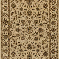 "Loloi Rugs - Loloi Rugs Yorkshire Collection - Ivory / Ivory, 7'-10"" x 7'-10"" Round - The Yorkshire Collection is a hand tufted area rug made by some of the finest craftsman. Semi-worsted New Zealand wool combines with deep rich color and semi-traditional designs to create unparalleled beauty."