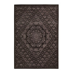 """Nourison - Nourison Regal Transitional Washed Espre 8'6"""" x 11'6"""" Rug by RugLots - This is Nourison's premier handmade wool collection and features intricately woven traditional patterns exquisitely hand carved with generous portions of silk. Elegant colors, classic designs, subtle tones and unbelievable texture define these magnificent rugs. The Regal collection sets a new standard in quality and beauty that rivals the world's finest heirloom rugs and is sure to be the centerpiece of any room."""