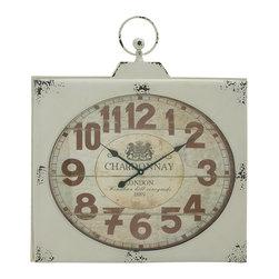 Magnificent and Unique Metal Wall Clock - Description: