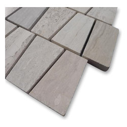 "Sample Relic Gray Wood 1/4 Sheet Marble Tile - sample-Relic Gray Wood 1/4 Sheet Marble Tiles Sample You are purchasing a 1/4 sheet sample measuring approximately 6"" x 6"". -Glass Tiles -"